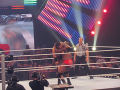 jackson slammed barrett 6 times before the Core came to the rescue (bballchico) Tags: seattle wwe keyarena thecore wadebarrett overthelimit ezekieljackson
