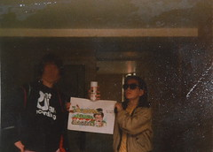 in the ghetto,,,Heist n Masika (with the shades)in 1986 (Massiwarrior.....) Tags: london history masi writers hackney projects 1986 ghetto slums councilestate masika heist thehood masica masicre masiker graffitibboy londonghetto