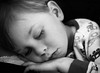 Sleepy B (tdent1) Tags: blackwhite child bas f25 sleeeping sigma30mm14 canon40d