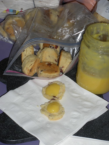 Hilda's famous lemon curd and scones