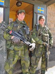 Swedish soldiers, assigned to the NATO-led Kosovo Force (KFOR), protecting Granchinitsa Monastery, Kosovo, March 1,  2009 (Ivan S. Abrams) Tags: nikon bosnia serbia croatia macedonia slovenia prizren kosova kosovo balkans nikkor albania nikondigital yugoslavia nato adriatic montenegro pristina smrgsbord decan kfor peje pec ferizaj kosove gjilane unmik rugova djakova blakans gjakove nikkor24120mm d700 nikonprofessional onlythebestare ivansabrams trainplanepro nikond700 nikon24120mmf3556gvr ivanabrams nikkor24120mmlens bosniaandherzogovnia metrovica copyrightivansafyanabrams2009allrightsreservedunauthorizeduseprohibitedbylawpropertyofivansafyanabrams unauthorizeduseconstitutestheft thisphotographwasmadebyivansafyanabramswhoretainsallrightstheretoc2009ivansafyanabrams nikkor24120mmf35mmf3556gvr abramsandmcdanielinternationallawandeconomicdiplomacy ivansabramsarizonaattorney ivansabramsbauniversityofpittsburghjduniversityofpittsburghllmuniversityofarizonainternationallawyer