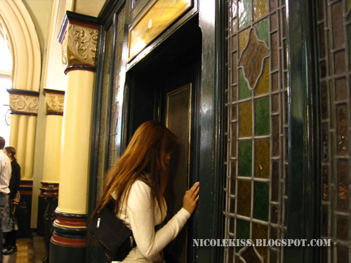 entering lift