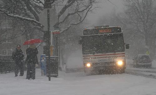 bus at 14th & Sheridan NW Monday morning