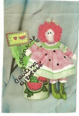 Boneca melancia (soniapatch) Tags: doll tutorial bonecadepano bonecamelncia dollwatermelon