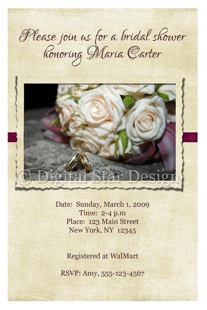 Bridal Shower Invitation Sample, 4x6, full-size