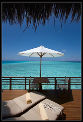 Room with a view (Mollow2) Tags: ocean maldives baros sunlounger canonefs1022mmf3545usm watervilla canoneos40d