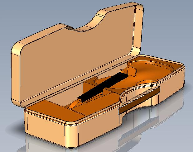Calder new violin 3D top front
