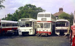 Withdrawn, at Berresfords. (Renown) Tags: buses bedford val leopard stokeontrent staffordshire willowbrook coaches silverstar leyland parkroyal reliance aec doubledeckers cheddleton plaxton atlantean singledeckers pd2a northwesternroadcar pdr1 berresfordmotors 1013mw berresfordsbuses nwrcc scrapbuses birchbros 92fxd withdrawnbuses berresfordofcheddleton vdb943