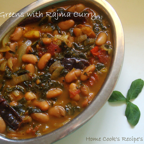 Sirukeerai and Rajma curry
