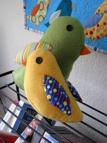 stuffed birds