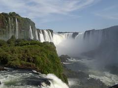 Iguazu Falls - Argentina (onewton25) Tags: blue sky mist argentina waterfall rainforest rapids iguazu iguasu