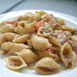 Mushroom Soup Pasta with Tuna