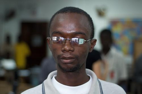 Nat Nyuan-Bayjay, a Ceasefire Liberia blogger in Monrovia