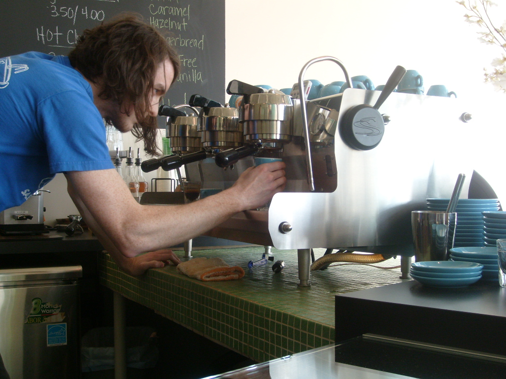 Barista Kevin at Voluto Coffee, Pittsburgh