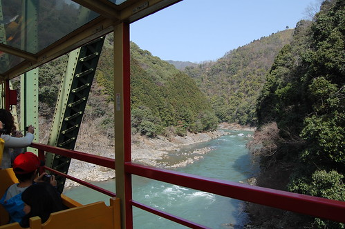 View from SAGANO SCENIC RAILWAY