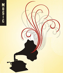 Gramophone (DryIcons) Tags: old music art fun design free player card record swirls vector gramophone