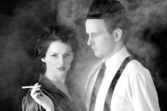 Film Noir 4 (beeater) Tags: bw blackwhite smoke hats smoking femmefatale canberra filmnoir classicphotography studo neonoir classicfilms heroheroine stuartharrisphotography filmnoirmood aussienoir modelmayhem852335jmanthorpe