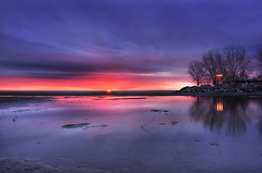 Here Comes The Sun (~EvidencE~) Tags: morning toronto ontario reflection sunrise spring nikon quiet peaceful beaches lakeontario evidence hdr ashbridgesbay d80 3exp location~ashbridgesbay