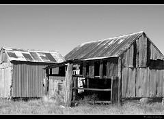 Old deserted barn (Natasja ) Tags: old blackandwhite bw white black barn grey shed australia frame canberra stable zwart wit deserted downunder australi