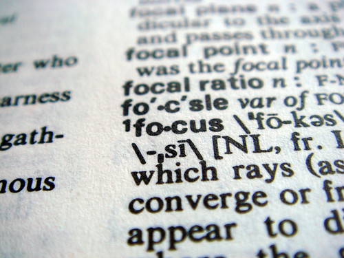 dictionary focus