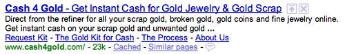 Google Classic Sitelinks