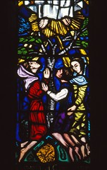 Children at the feet of Mary (Aidan McRae Thomson) Tags: irish window shropshire stainedglass whitchurch patrickpollen
