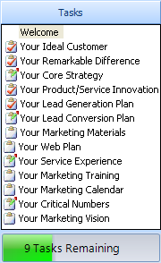 Marketing Plan Pro Task List