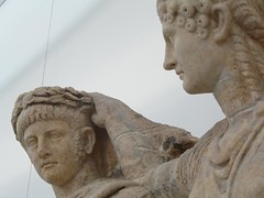Agrippina crowns her son Nero (peterpeers) Tags: sculpture turkey nero claudius afrodisias ancienttimes romanperiod sebasteion aggripina juliandynasty