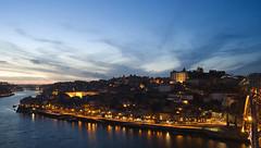 Oporto (elosoenpersona) Tags: blue sunset portugal azul night atardecer lights luces noche porto hour hora gaia oporto ribeira vilanova elosoenpersona