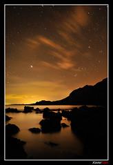 Noche Dorada (Carlos J. Teruel) Tags: longexposure espaa mar nikon nightshot paisaje murcia reflejo nocturna nocturnas 2009 d300 18200vr calnegre xaviersam