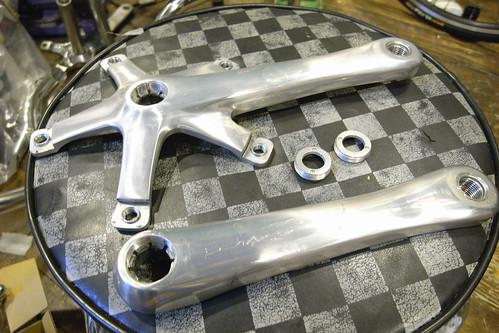 the crank before it is polished