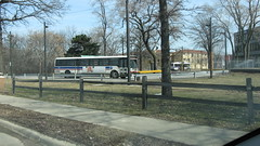The CTA Route # 77 Belmont Avenue bus line west terminal loop. River Grove Illinois. Early March 2009.