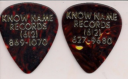 2009 Know Name Records Guitar Picks (Minneapolis)