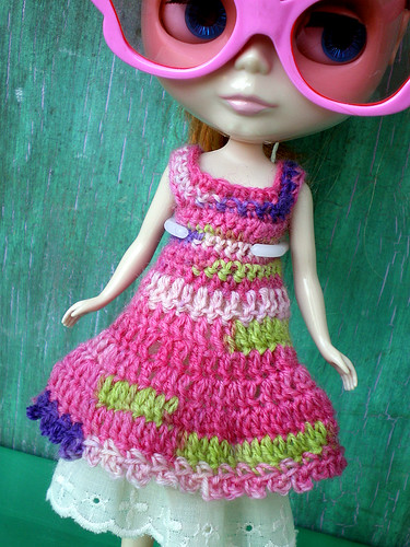 Clementine in Her New Crocheted Dress and Shades