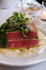 Anthony David - seared ahi, potatoes, greens