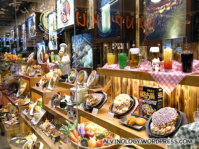 Visually arresting food display outside the restaurant