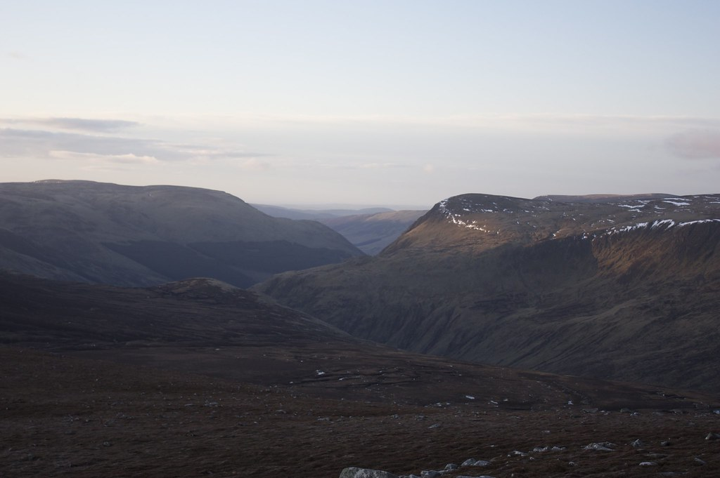 Looking south to Glen Clova