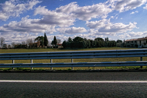 Scenery from Autostrade in Italy