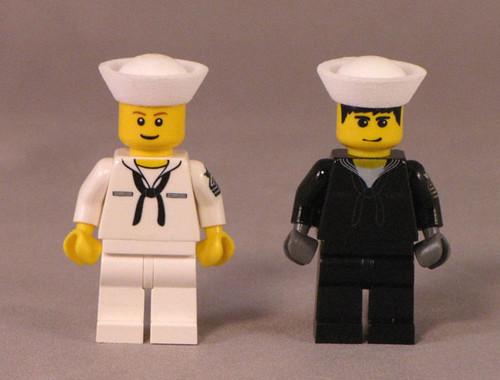 navy sailors custom minifigs