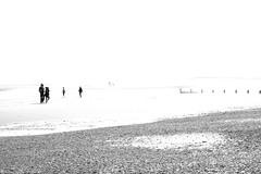 (Gemma Archer) Tags: sun abstract beach walking blackwhite couple cambersands highlights landscapeuk