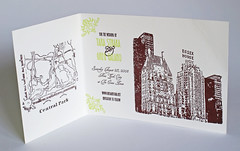 Save The Date Letterpress - New York Skyline (ericksondesign) Tags: essexhouse newyorkletterpress savethedateletterpress newyorkskylinesavethedate