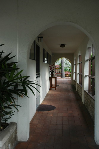 Hallway, Self-Realization Fellowship, Encinitas, California, USA