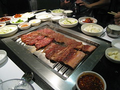 galbi on the grill
