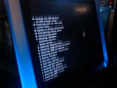 Bar top game machine rebooting