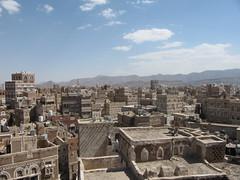 Landscape of Sanaa, Yemen (christopher wilken) Tags: architecture islam middleeast arab yemen sanaa sana persiangulf arabs arabarchitecture sanaayemen arabgulf islamicarchtecture
