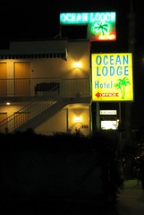 Ocean Lodge (mragan) Tags: california nightphotography santamonica oceanlodge vintagemotelsigns