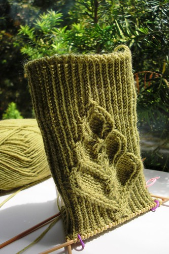 June 15, twist stitch socks take forever