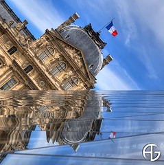 Mirror (A.G. Photographe) Tags: sky paris france reflection monument clouds photoshop french mirror nikon louvre reflet ciel reflect nikkor miroir nuages pyramide soe franais hdr anto symtrie cameraraw xiii pyramidedulouvre 2470 photomatix supershot d700 bratanesque theunforgettablepictures 5raw antoxiii