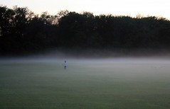 Running into the Mist (Read2me) Tags: mist field fog gamewinner unanimous challengeyouwinner thechallengegame challengegamewinner friendlychallenges thechallengefactory tcfunanimous yourock1st superherochallengewinner pregamewinner