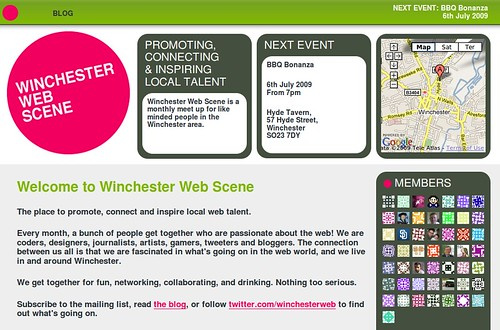 New site for the Winchester Web Scene